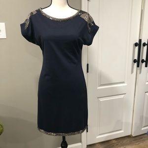 Garcia navy beaded dress